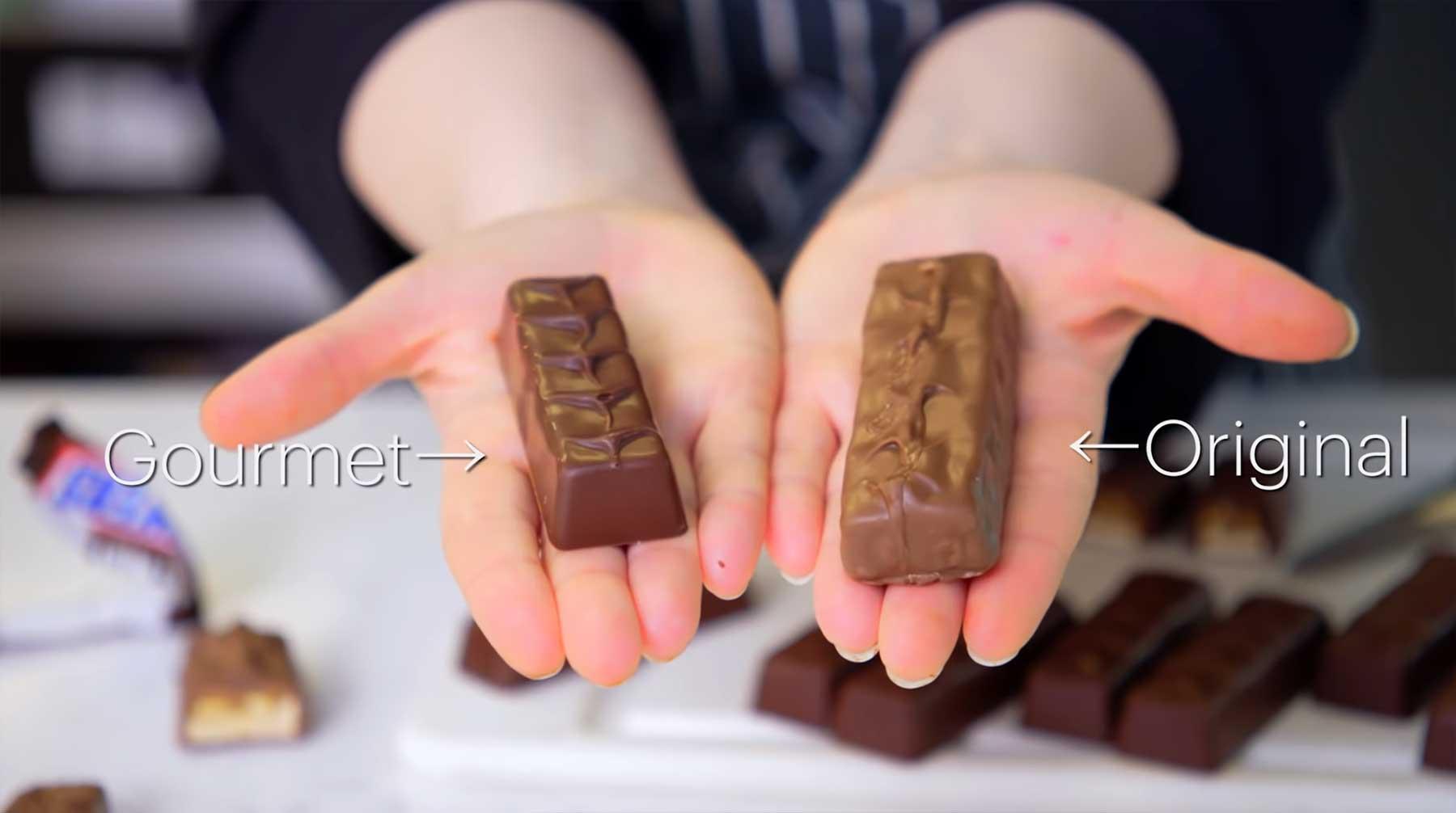 Gourmet-Konditorin versucht, Snickers-Riegel nachzumachen