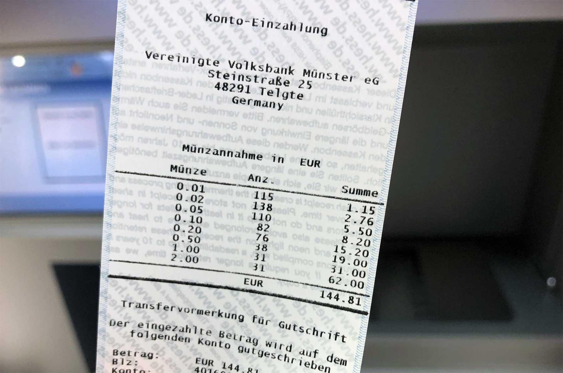 Auflösung vom Spardosenraten 2018 spardosenraten-2018-einzahlung