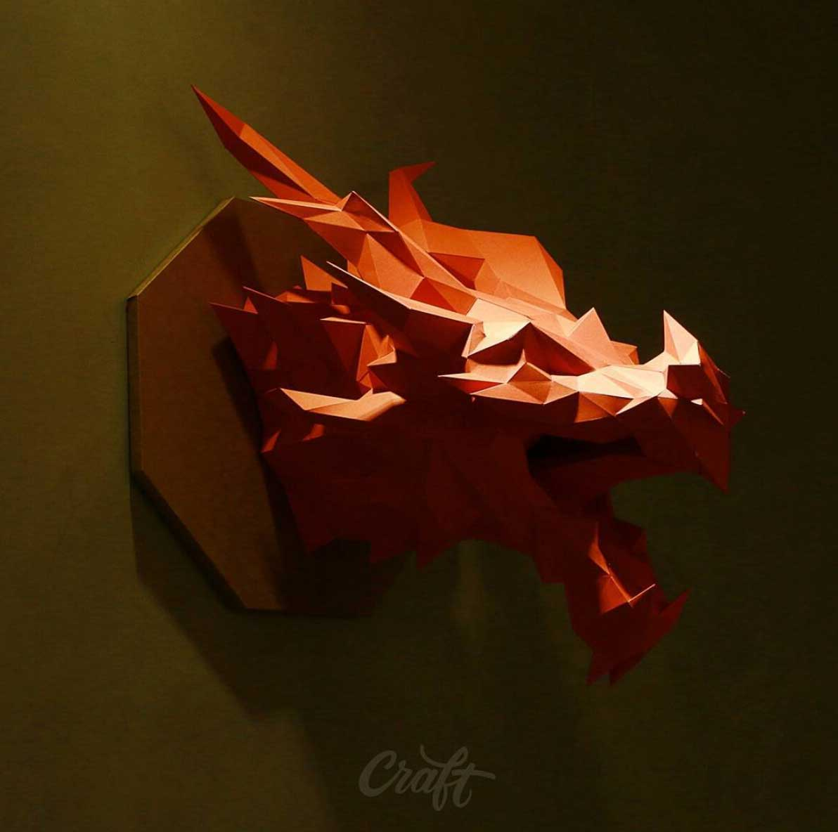 Polygone Papier-Skulpturen von Studio Craft studio-craft-papier-low-poly_04