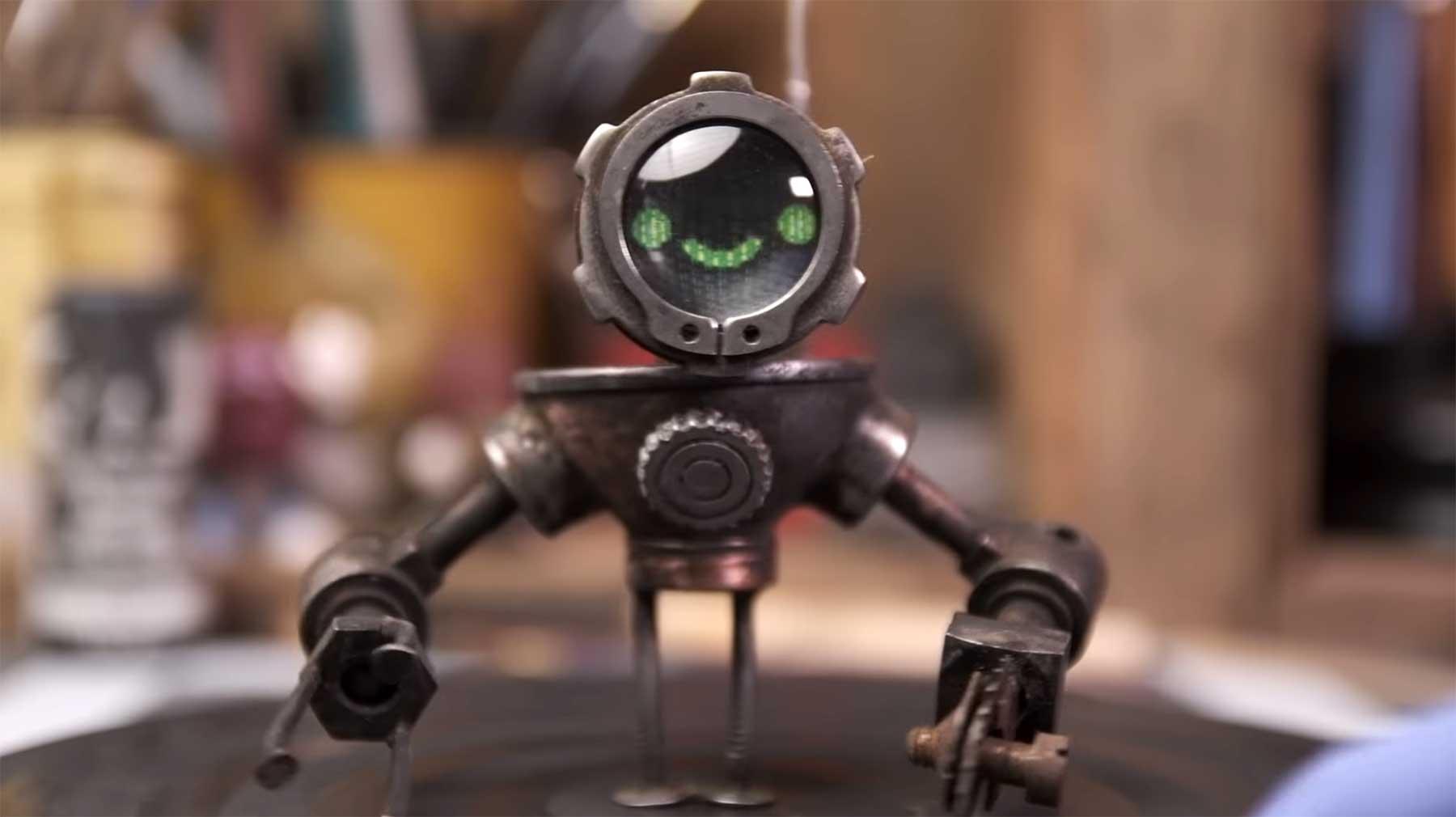 Bau eines kleinen Metall-Roboters