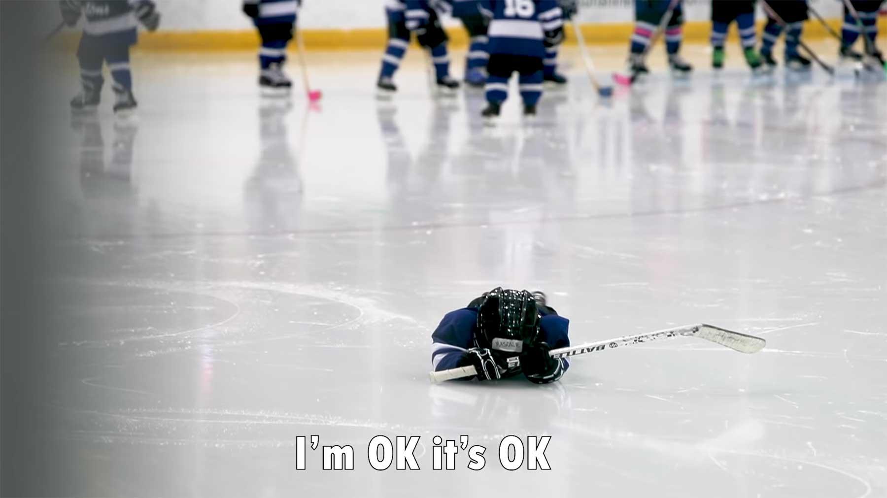 Das sagt ein 4-Jähriger beim Eishockey-Training