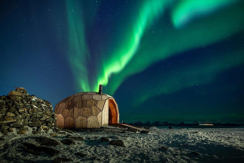 Norwegisches Holz-Iglu