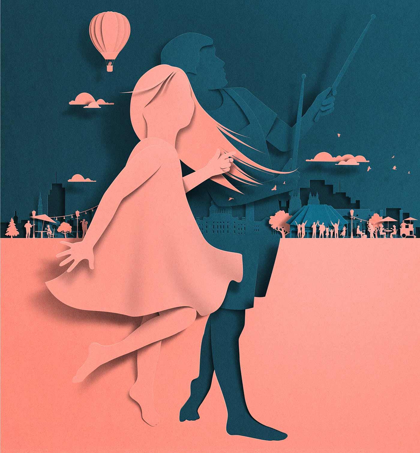 Neue papiergleiche Illustrationen von Eiko Ojala
