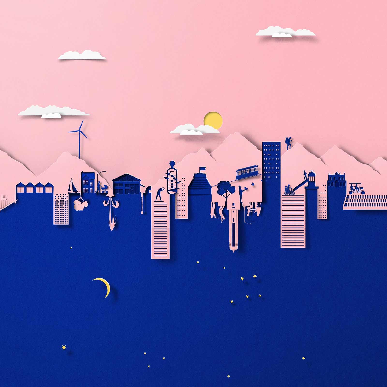 Neue papiergleiche Illustrationen von Eiko Ojala Eiko-Ojala_papierillustrationen_2019_09