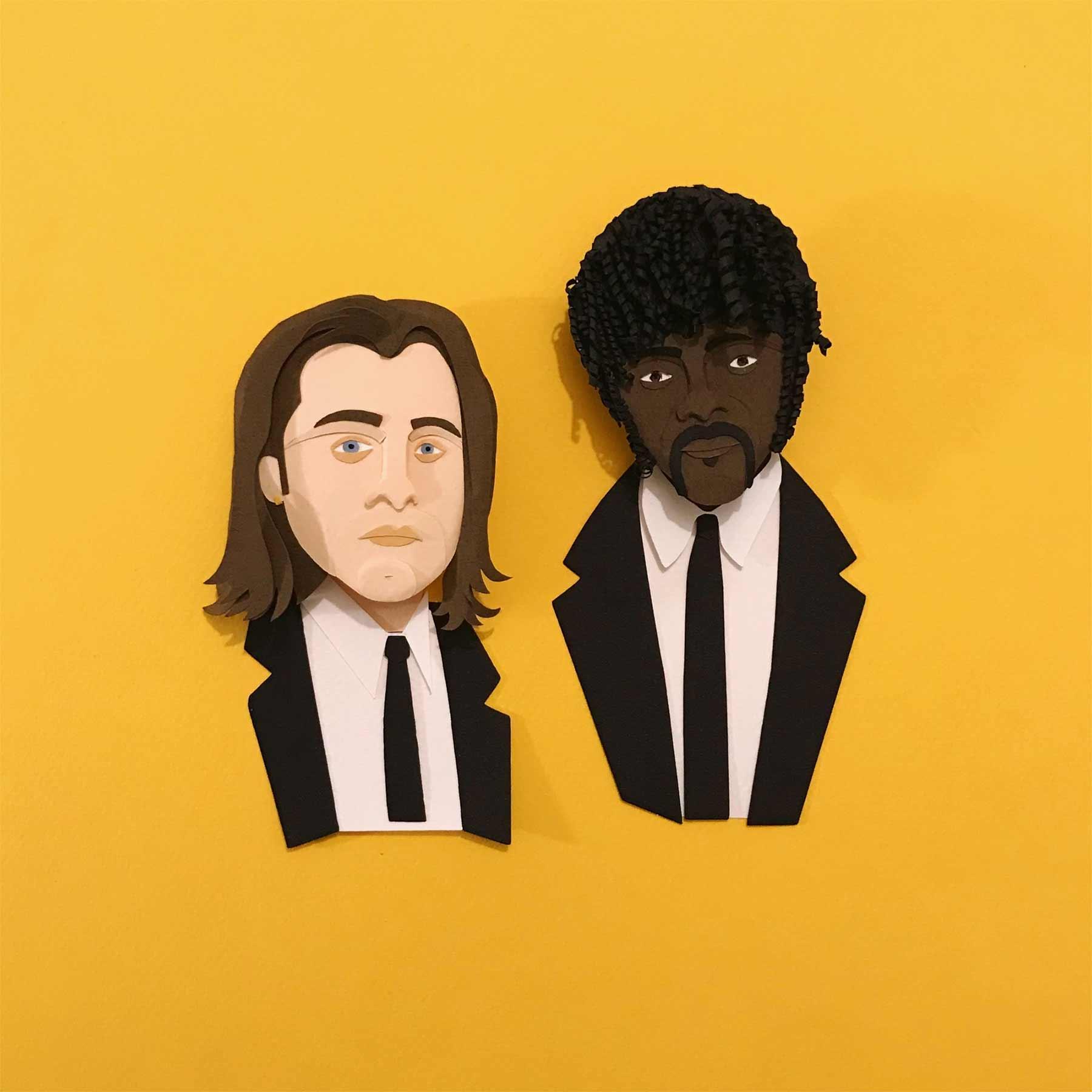 Popkulturfiguren aus Papier