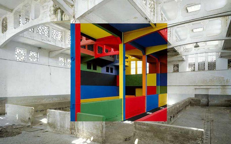 Perspektivische Kunst von Georges Rousse