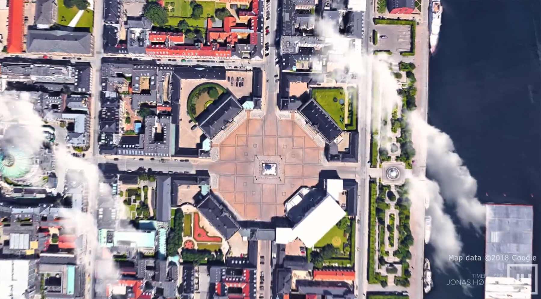 Google Maps-Hyperlapse-Rundflug durch Kopenhagen