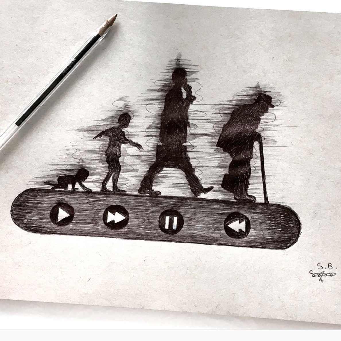 Gesellschaftskritische Zeichnungen von Sam Bailey Sam-Bailey-Zeichnungen_02