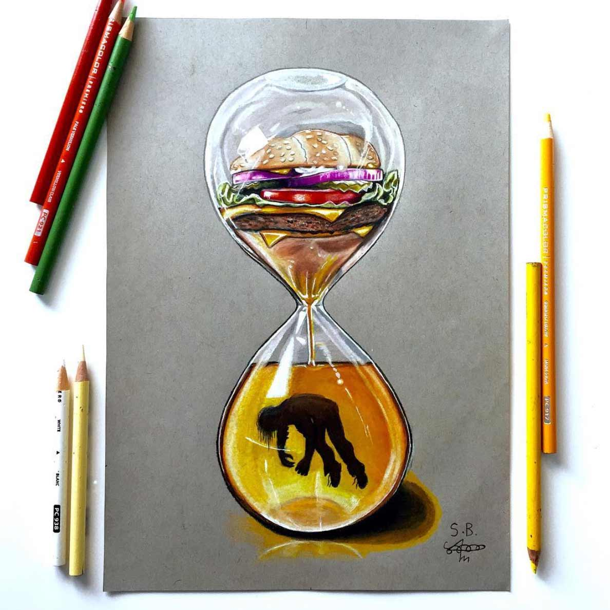 Gesellschaftskritische Zeichnungen von Sam Bailey Sam-Bailey-Zeichnungen_04