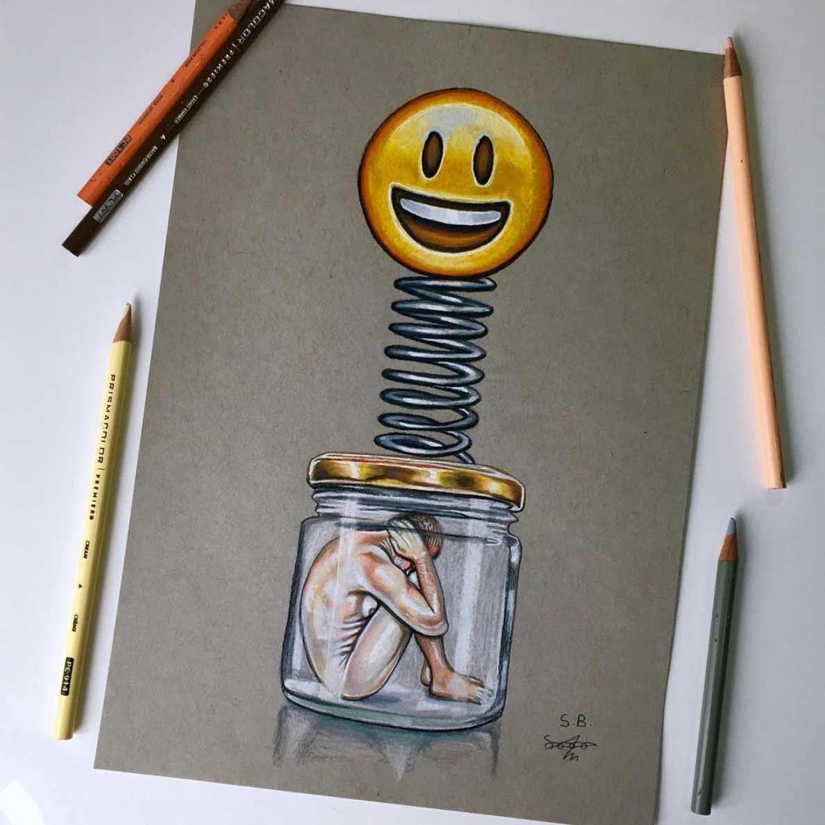 Gesellschaftskritische Zeichnungen von Sam Bailey Sam-Bailey-Zeichnungen_05