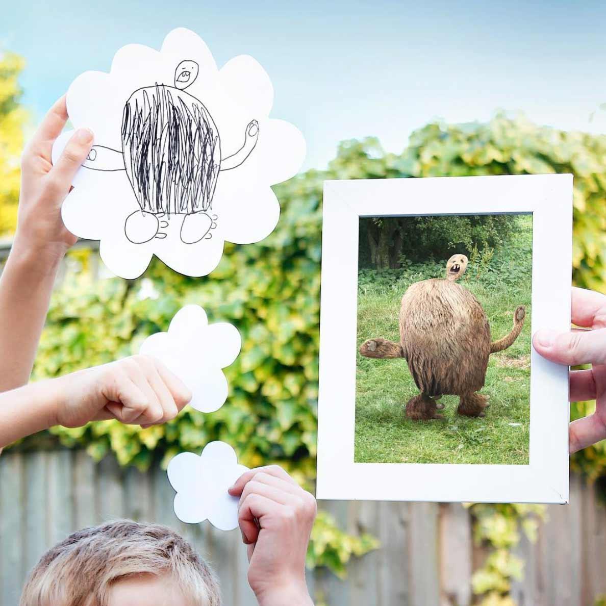 Vater photoshopped noch immer Zeichnungen seiner Söhne in die Realität ThingsIhavedrawn-2019_09