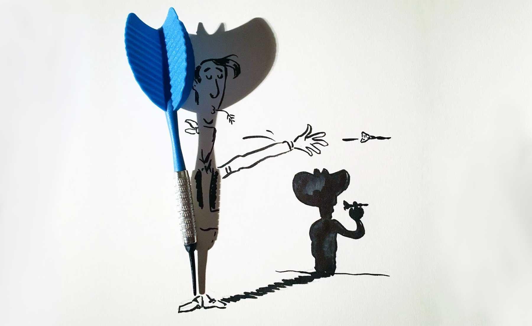 Neue Schatten-Zeichnungen von Vincent Bal
