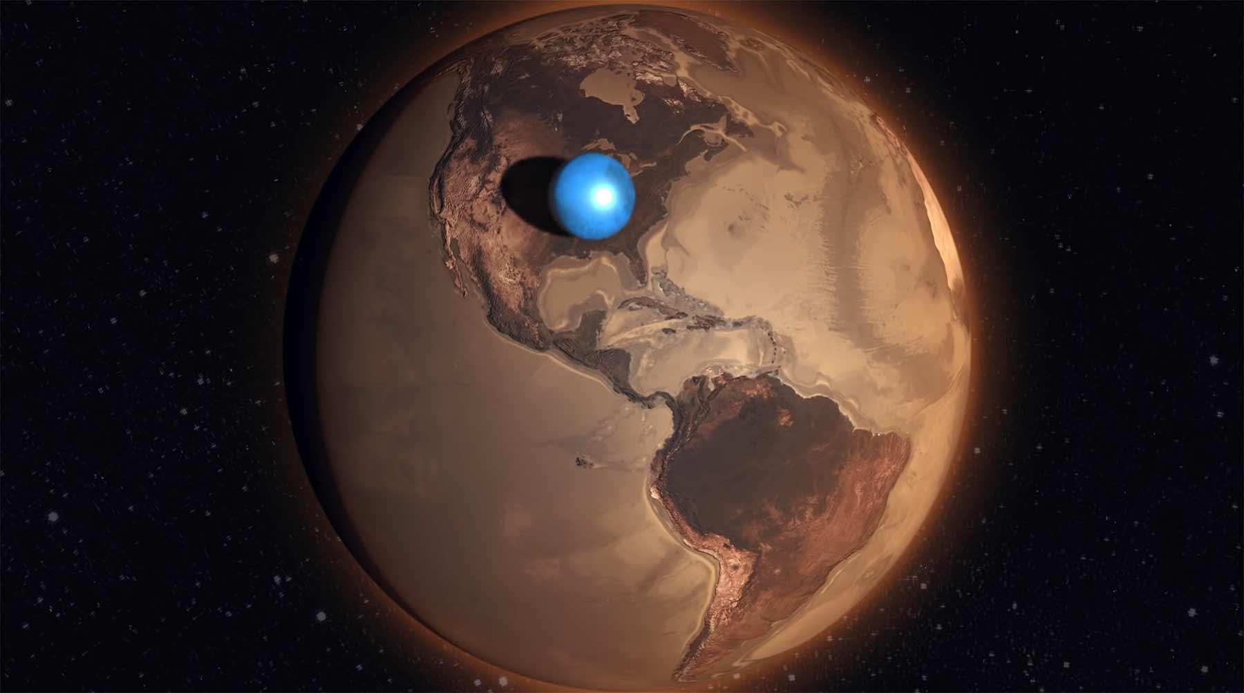 So wenig Wasser haben wir eigentlich nur auf der Erde