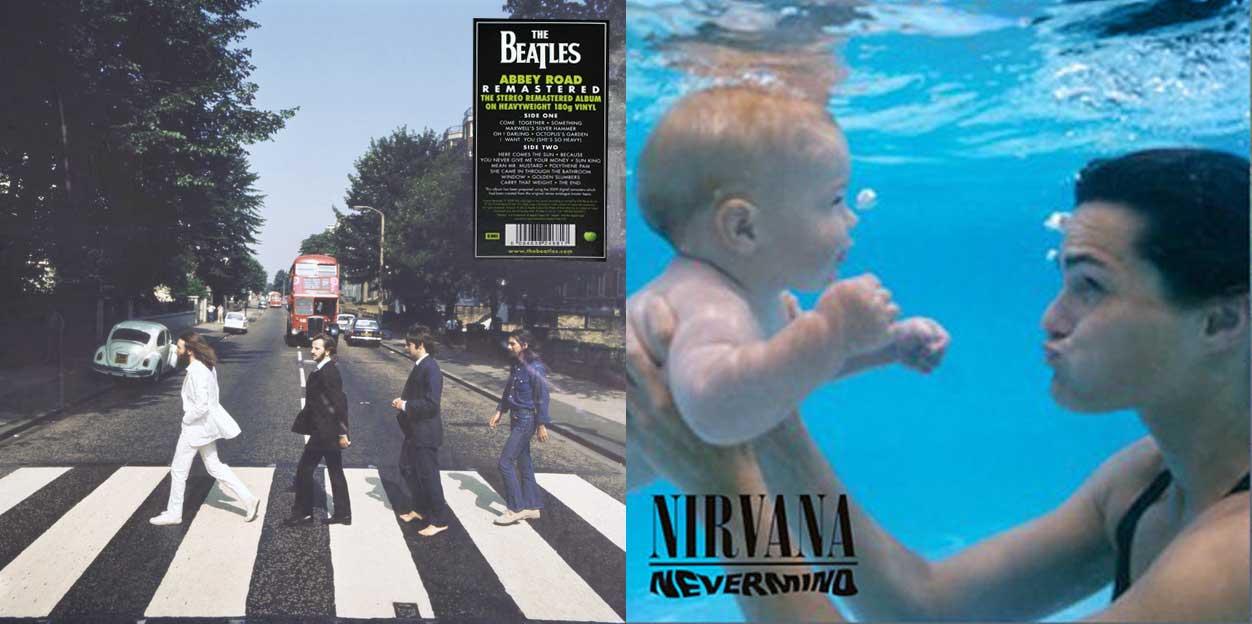 Ikonische Albumcover mit anderen Motiven aus dem gleichen Fotoshooting