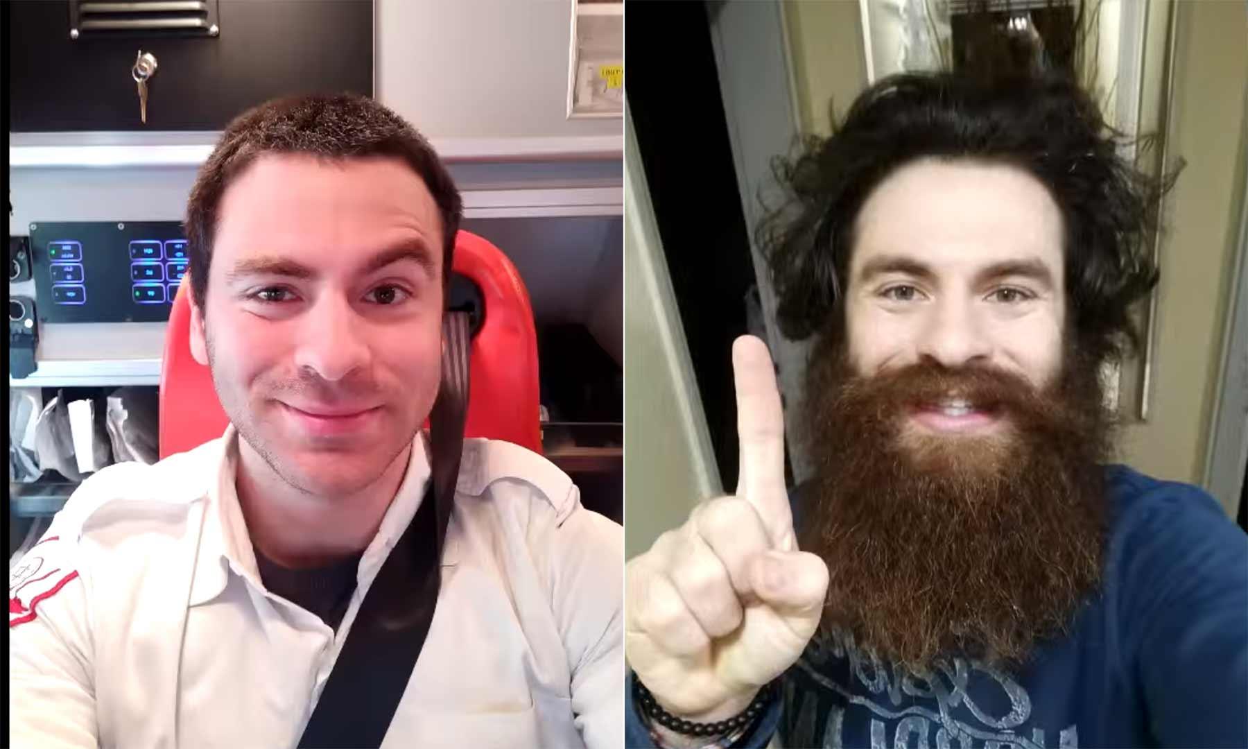 Ein Jahr Bart- und Haarwuchs in 45 Sekunden bartlapse