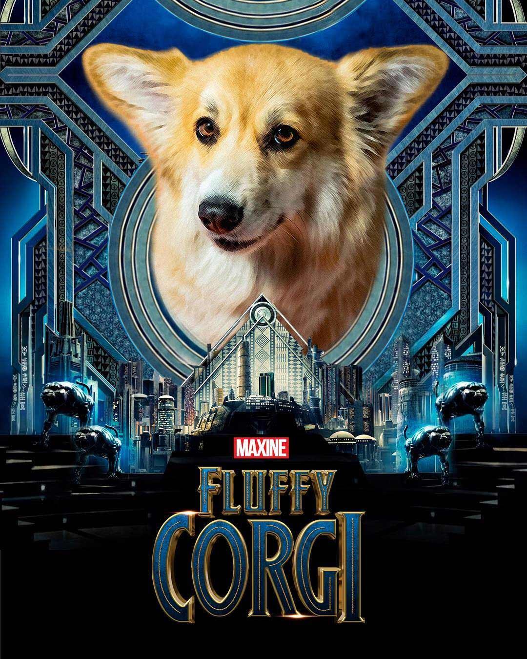 Bekannte Filmplakate mit Corgi verbessert filmposter-mit-corgi-hund_02