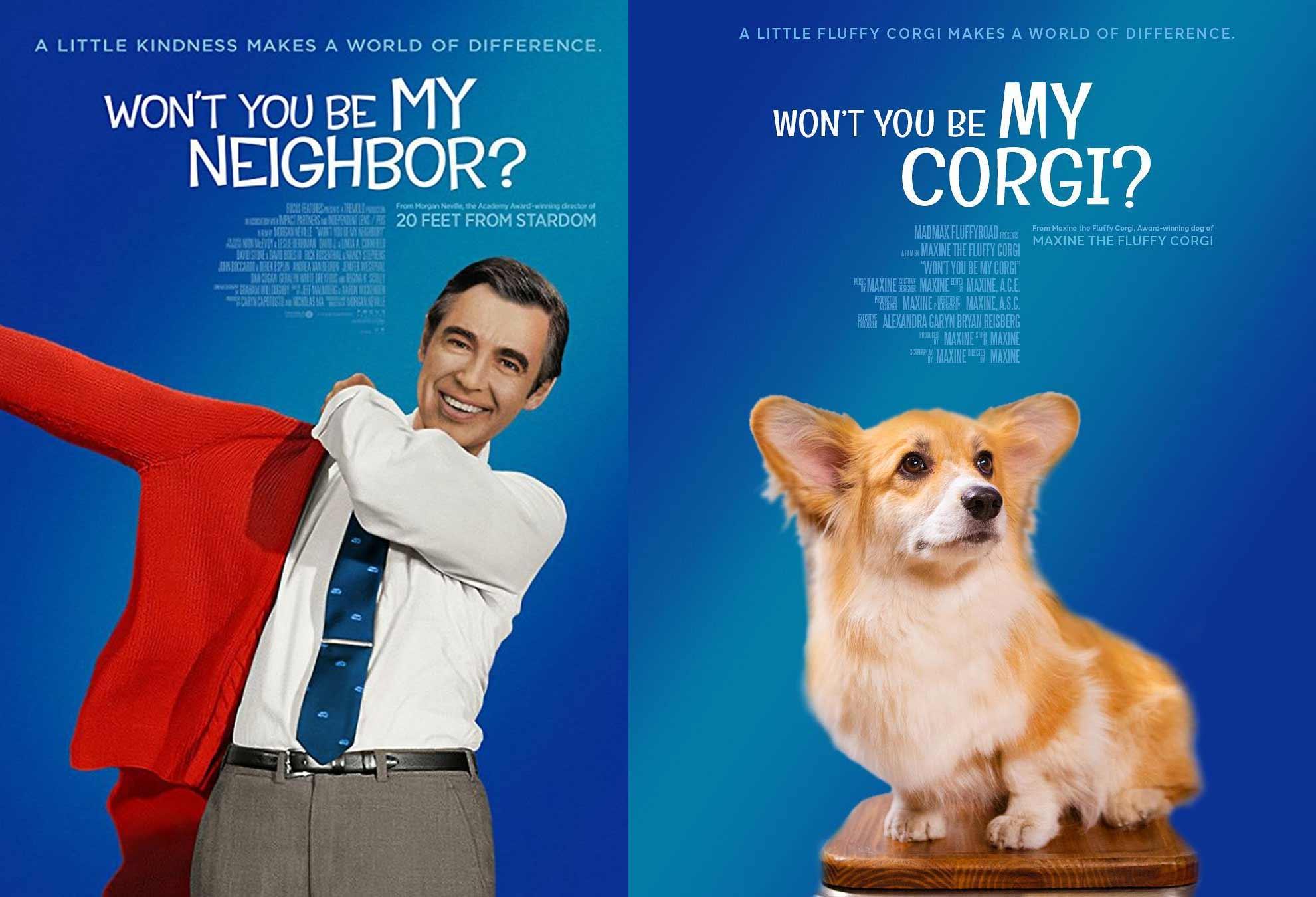 Bekannte Filmplakate mit Corgi verbessert filmposter-mit-corgi-hund_09
