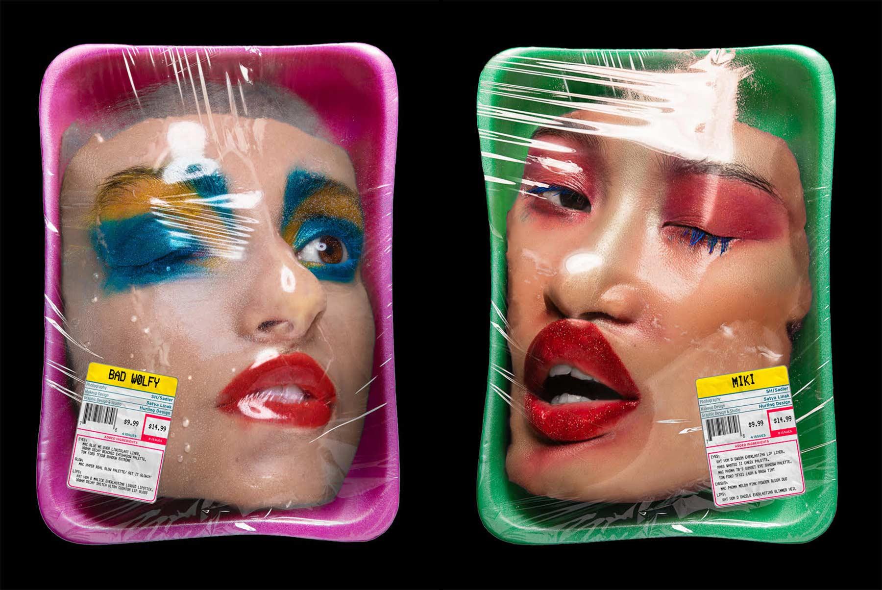 Frisch abgepackte Model-Gesichter