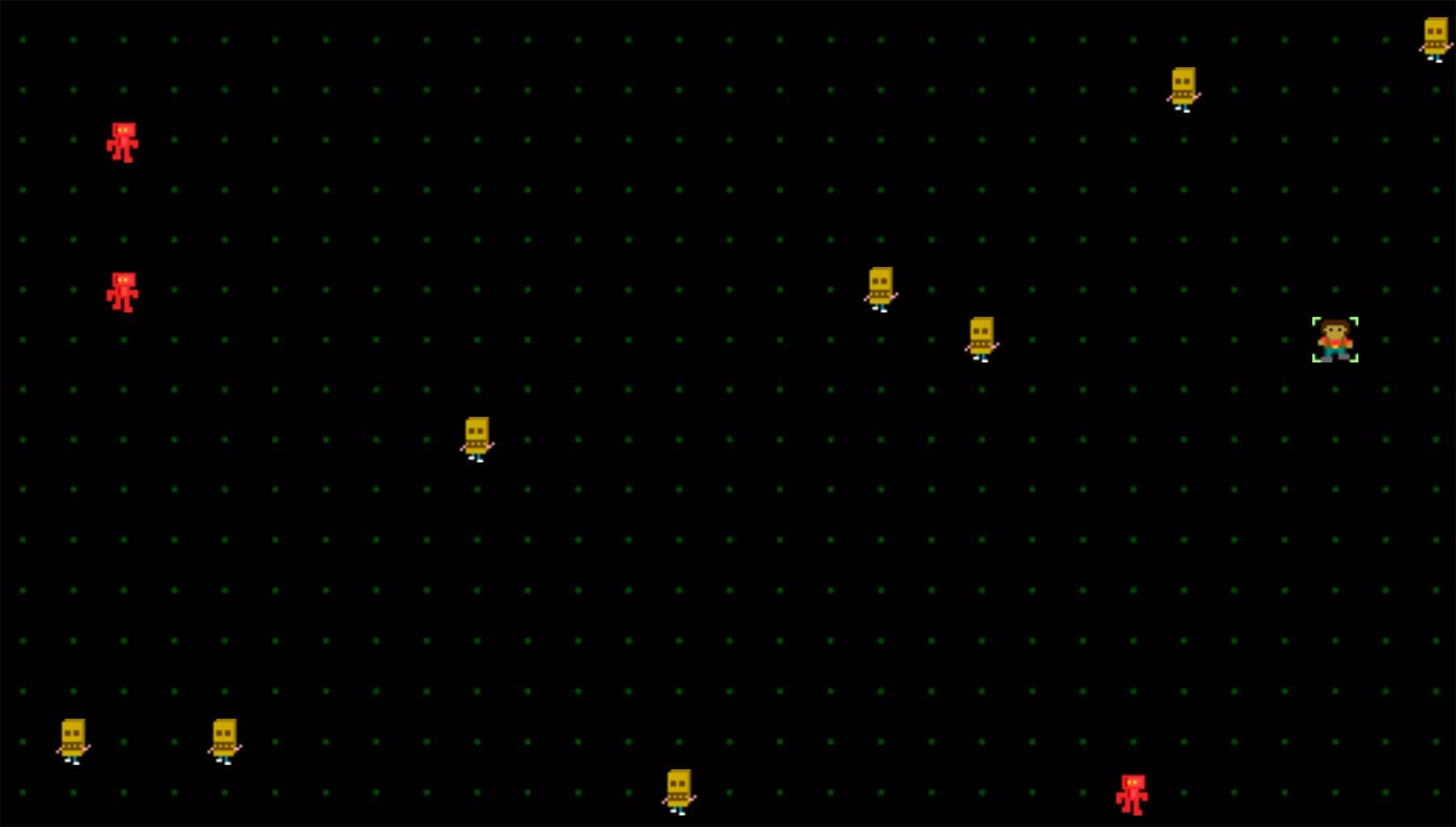"Puzzle-Browserspiel ""HOMICIDAL ROBOTS, INC."" homocidal-robots-inc-game-1"