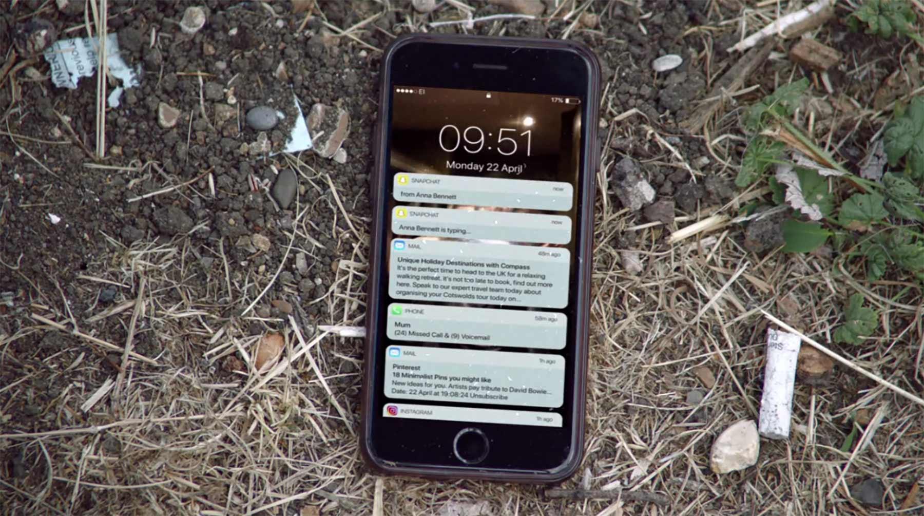 Ein Telefon erzählt die Geschichte eines Vermissten