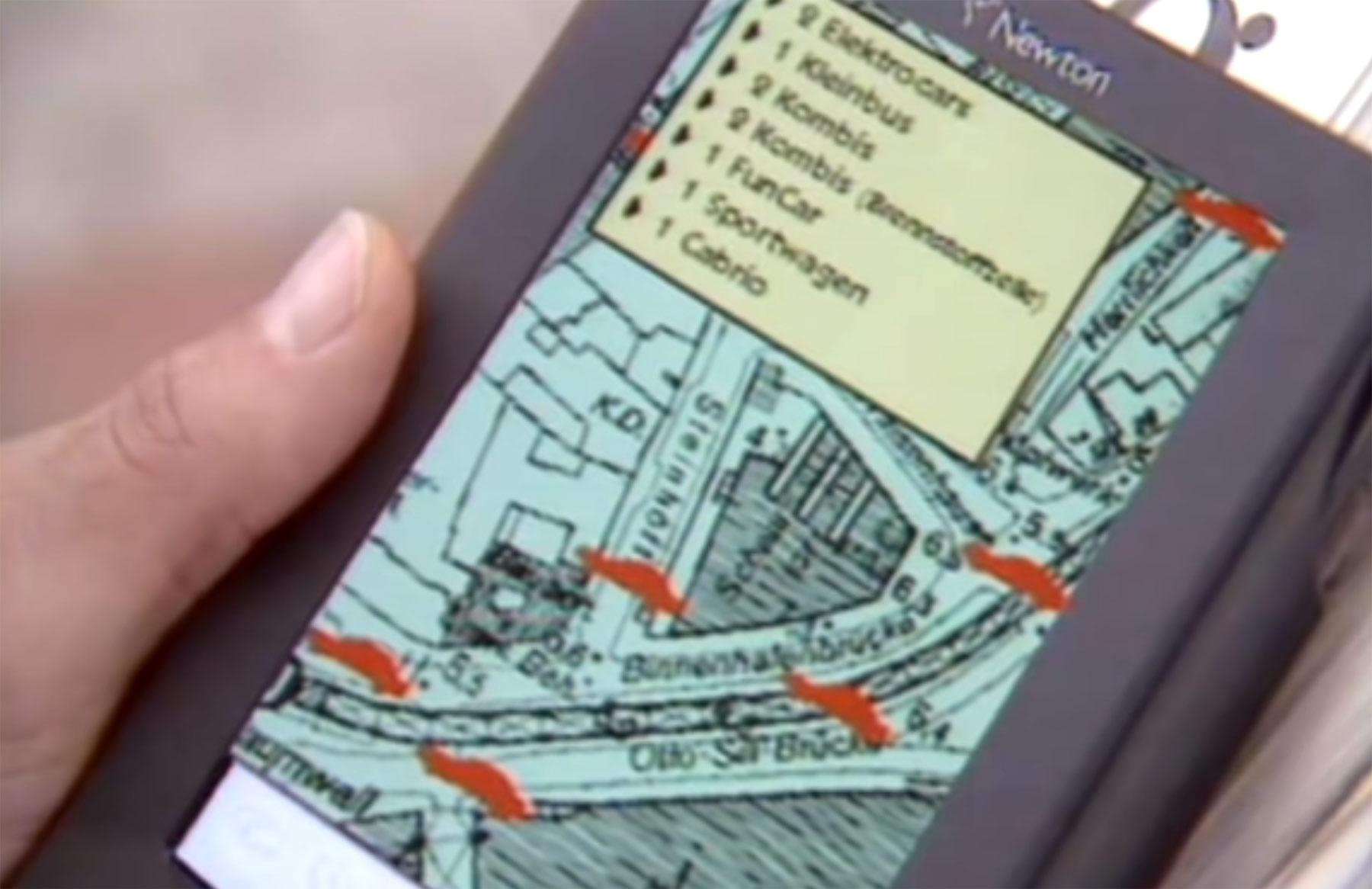 Zukunftsvision aus 1994: So stellte man sich Carsharing und Navigation vor