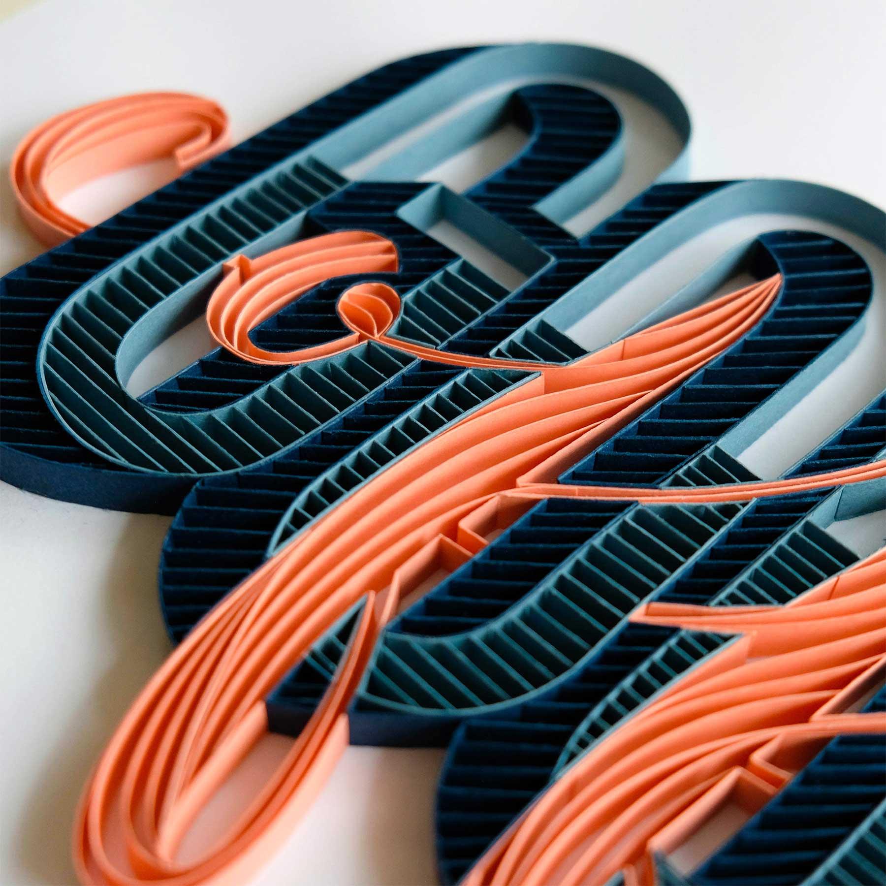3D-Papier-Lettering von Alia Bright Alia-Bright-paperlettering_02