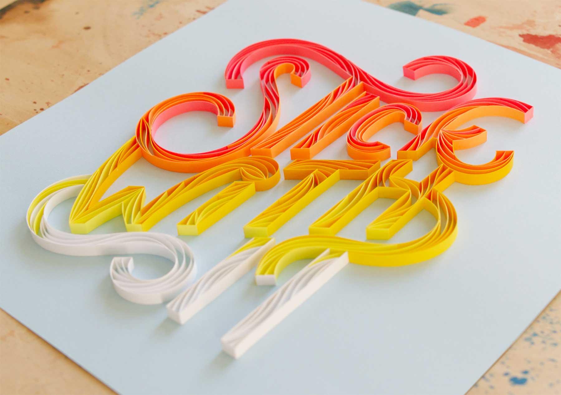 3D-Papier-Lettering von Alia Bright Alia-Bright-paperlettering_03