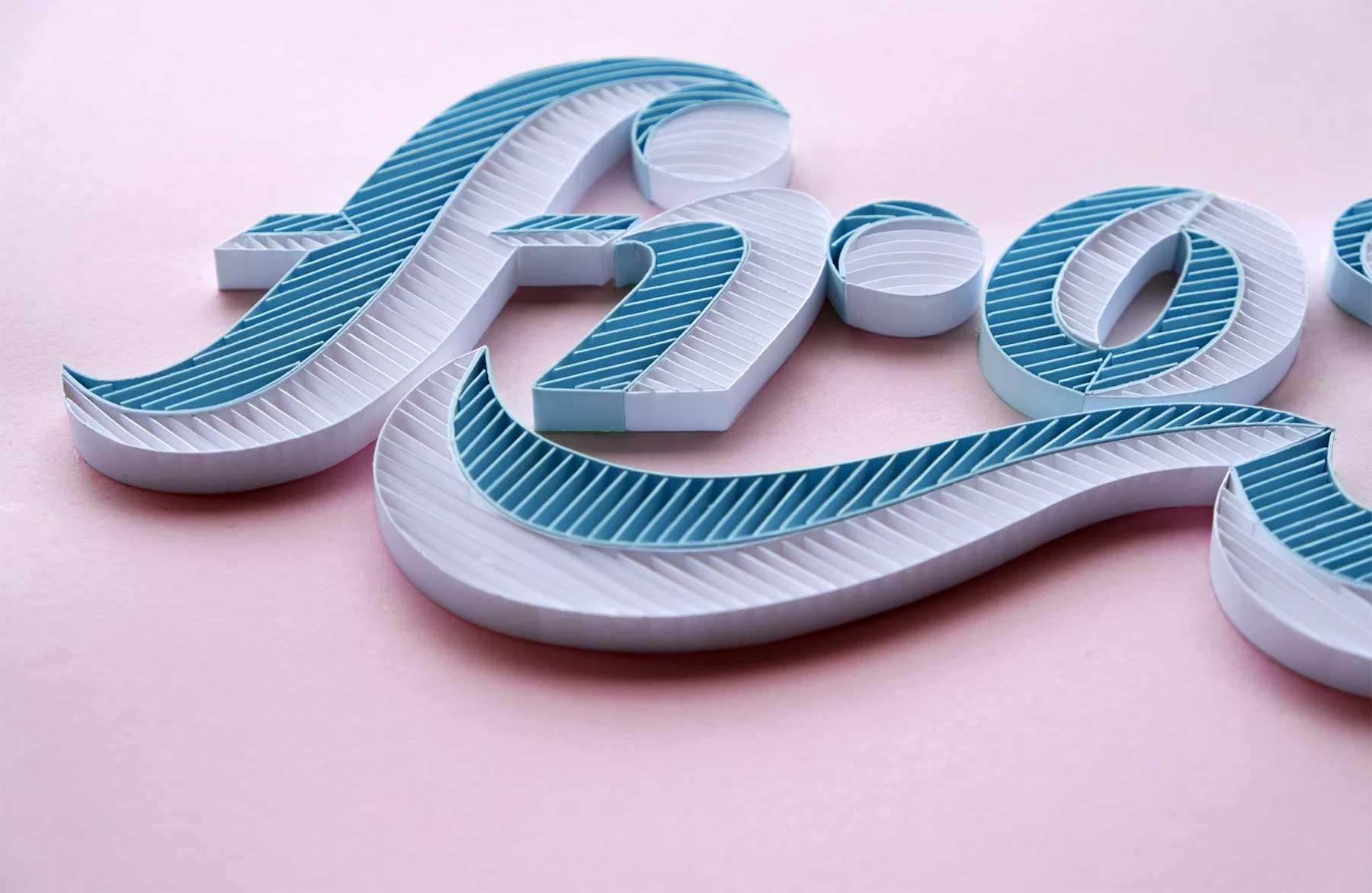 3D-Papier-Lettering von Alia Bright Alia-Bright-paperlettering_08
