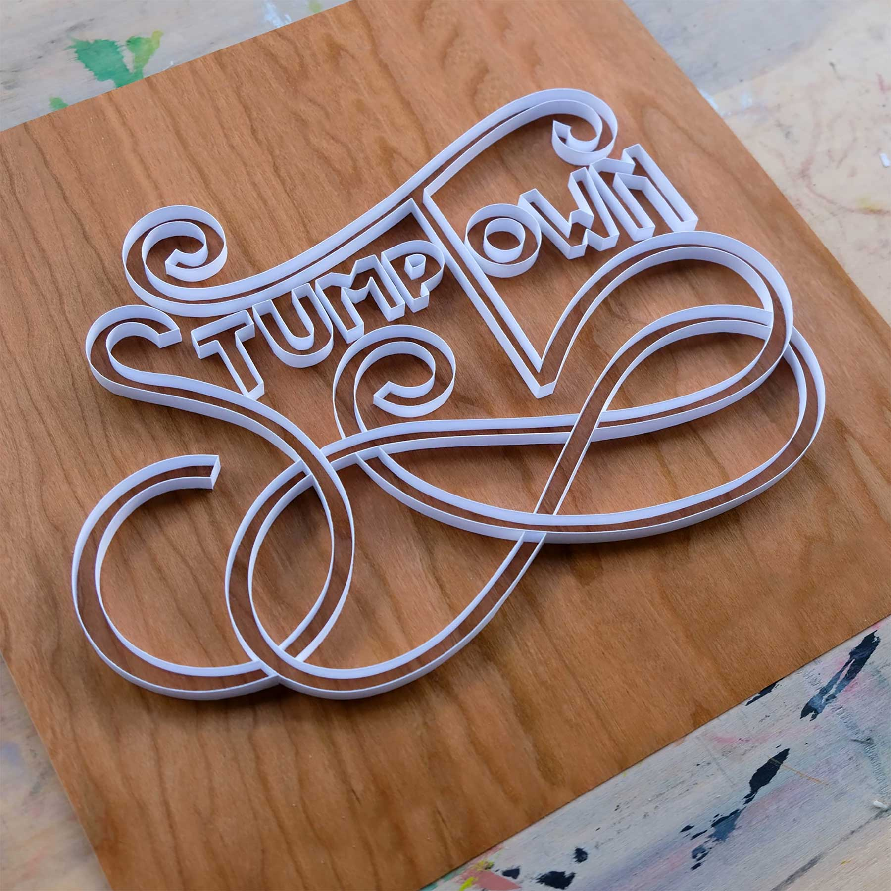3D-Papier-Lettering von Alia Bright Alia-Bright-paperlettering_09