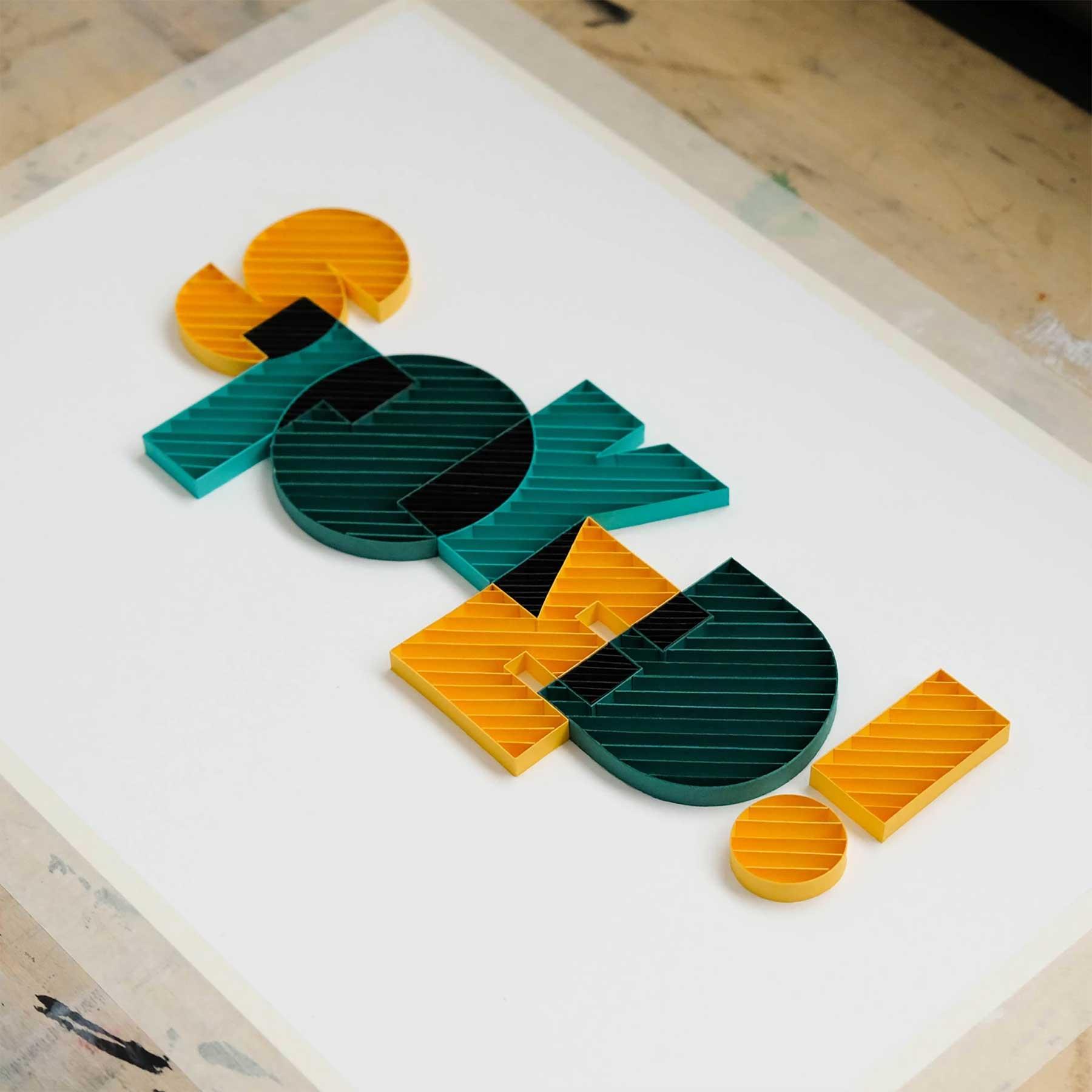 3D-Papier-Lettering von Alia Bright Alia-Bright-paperlettering_11