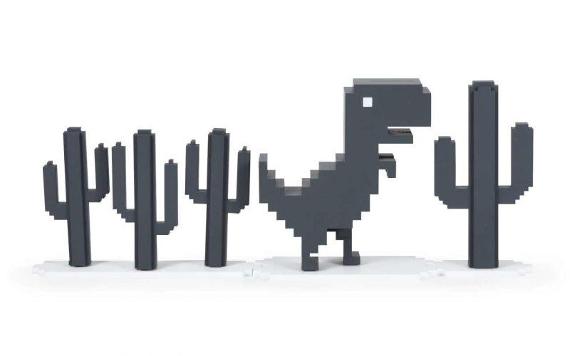 Chrome Browser-Verbindungsfehler-Dino in echt