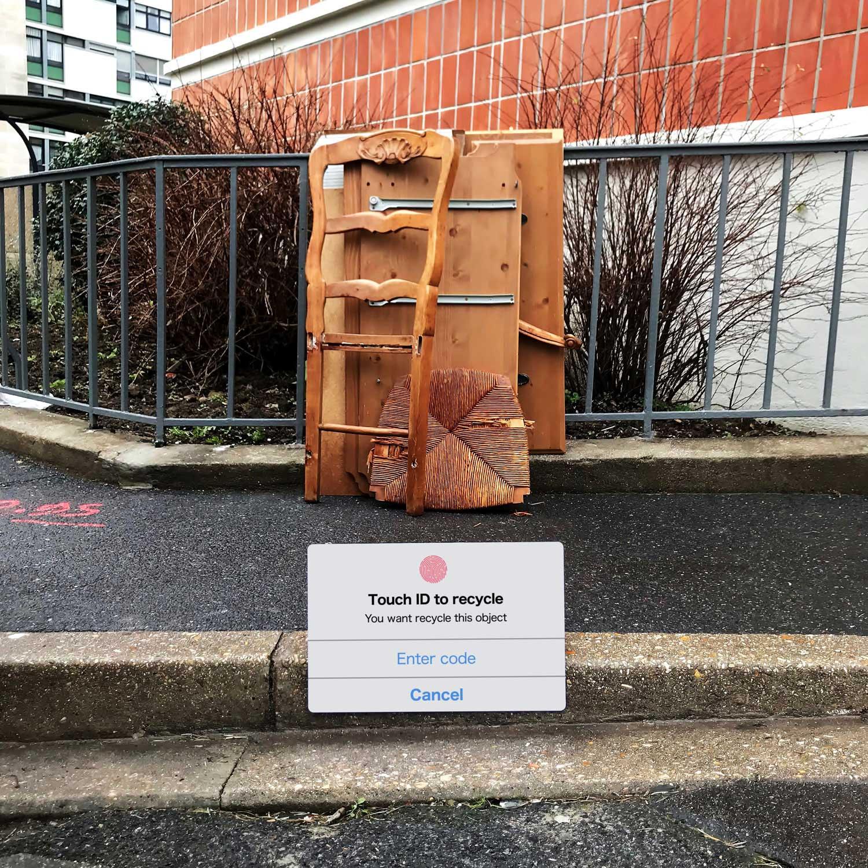 Street Artist Lor-K macht Sperrmüll löschbar Delete-the-waste-Lor-K_02