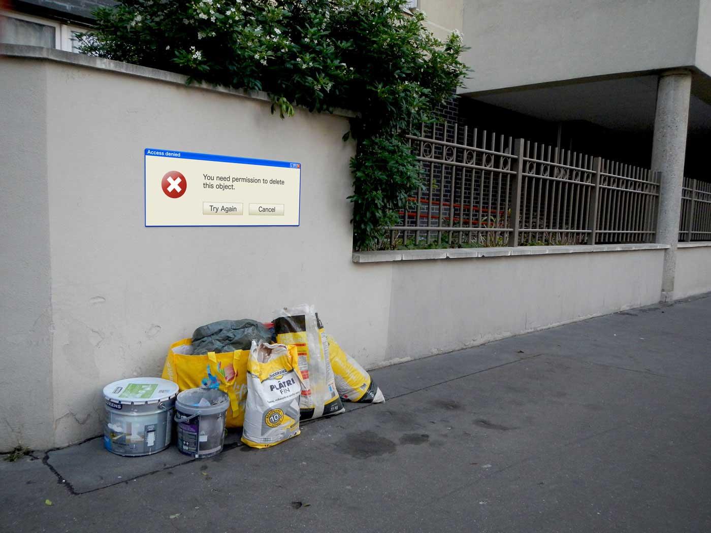 Street Artist Lor-K macht Sperrmüll löschbar Delete-the-waste-Lor-K_05