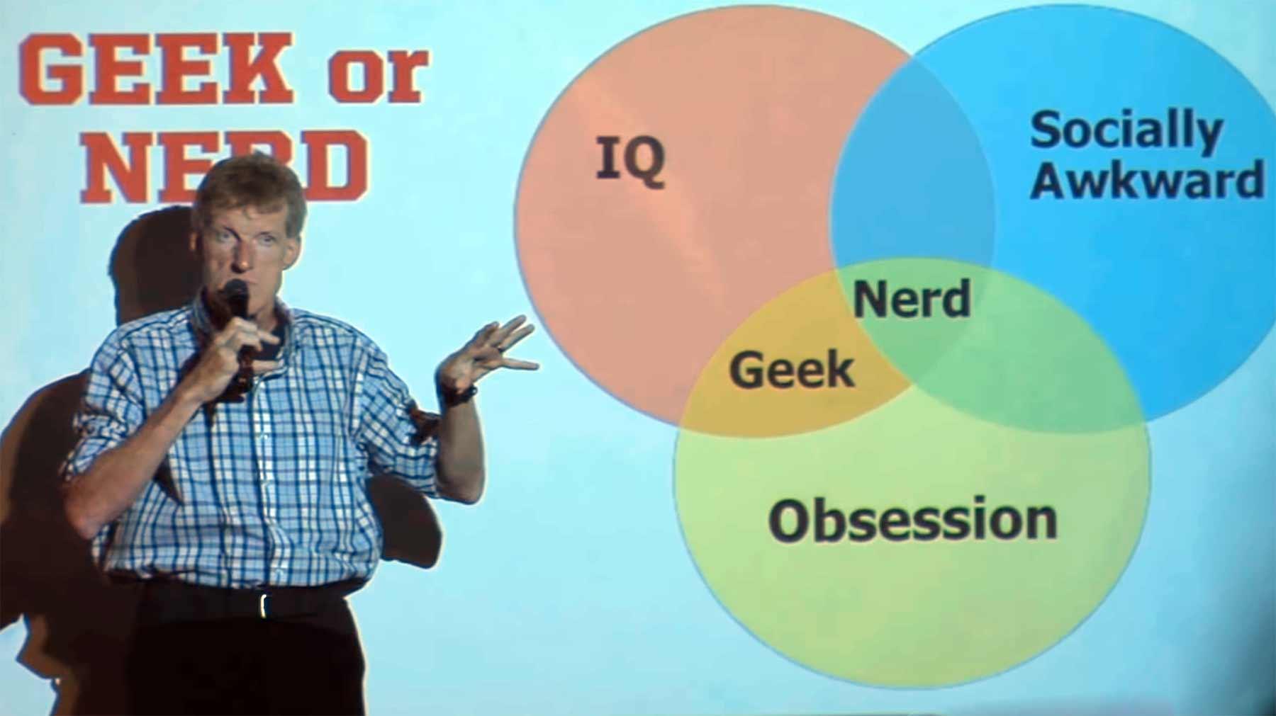 Stand-up-Comedy mit Diagrammen von Don McMillan