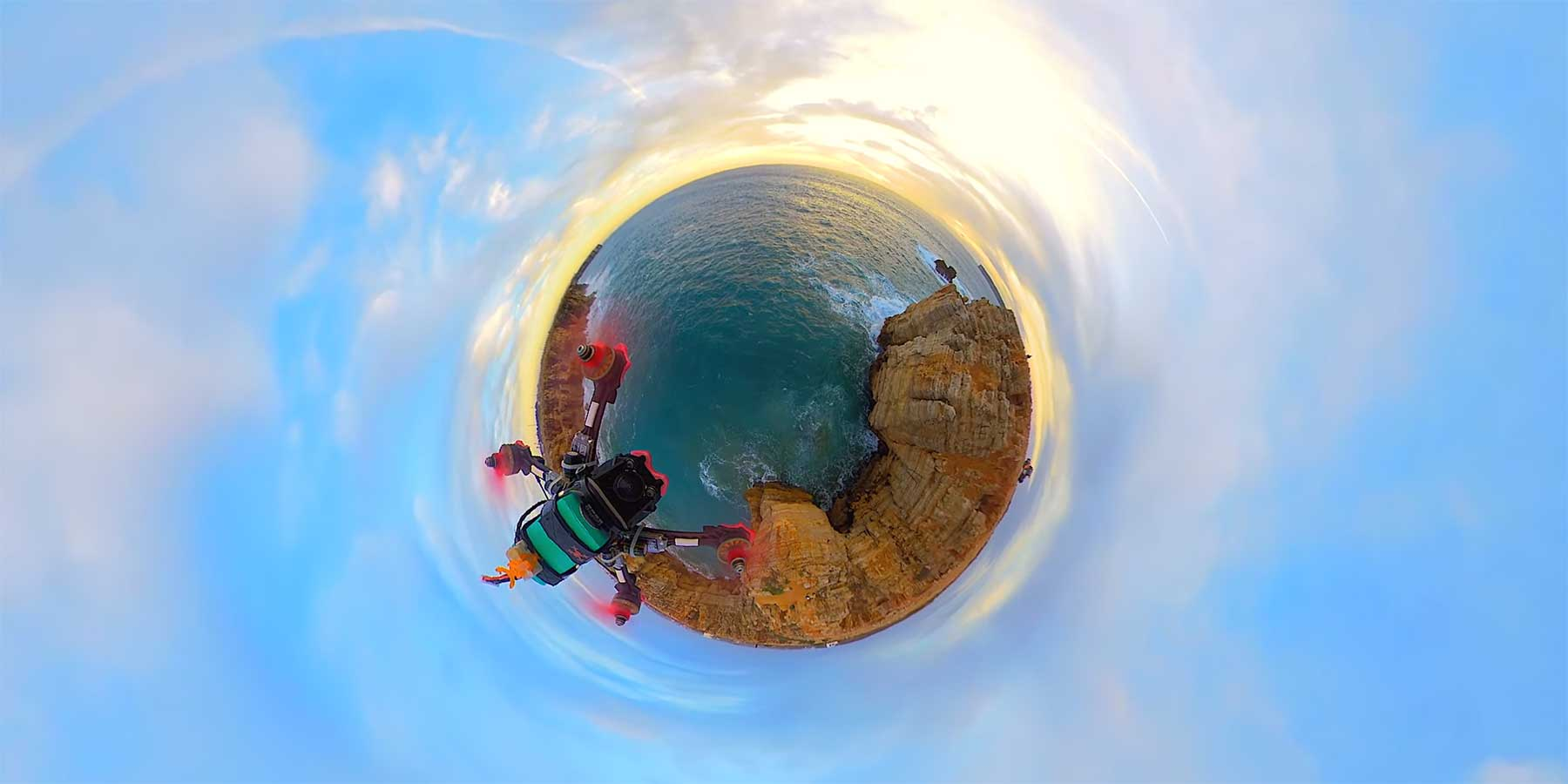 Drohnenflug um schöne Mini-Planeten Insta360-One-X-footage-360-fpv-bobesh-oz