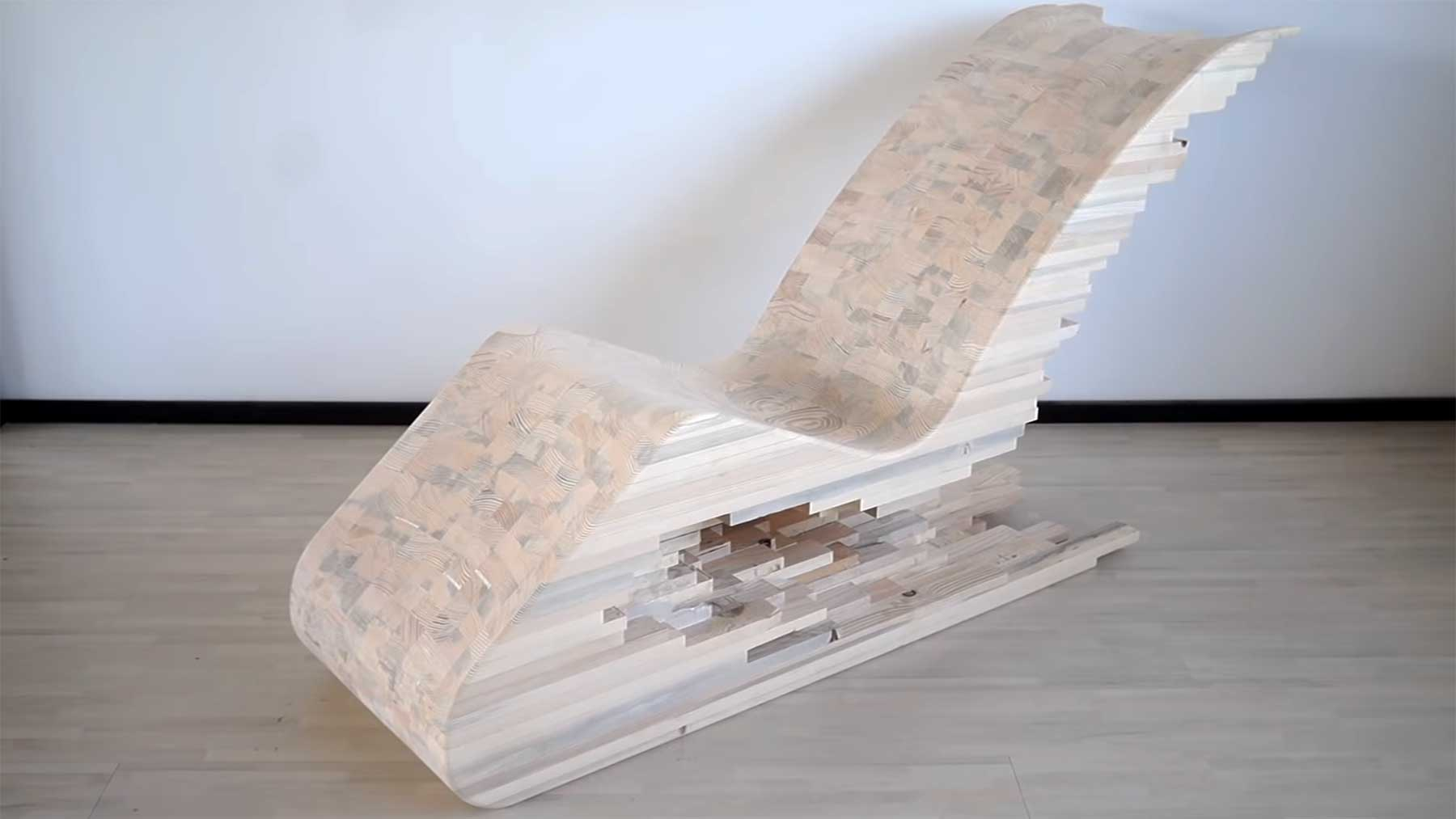 Bau eines hölzernen Pixel-Stuhles Lignum-wooden-pixel-chair
