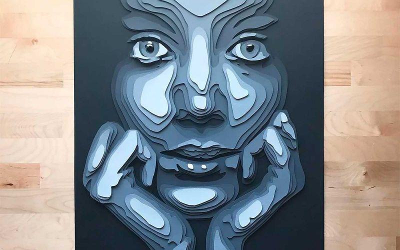 Papier-Portraits von Shelley Castillo Garcia