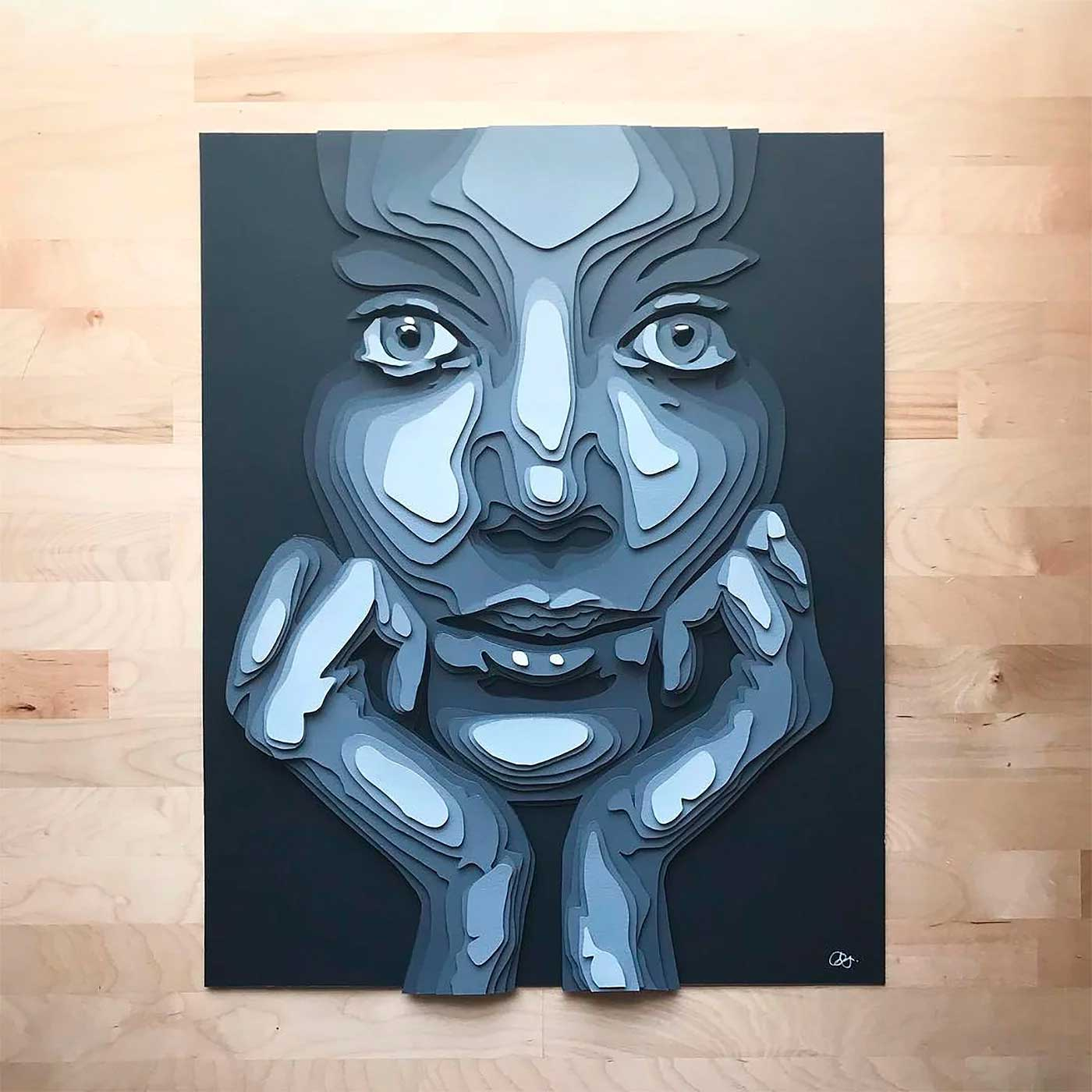 Papier-Portraits von Shelley Castillo Garcia