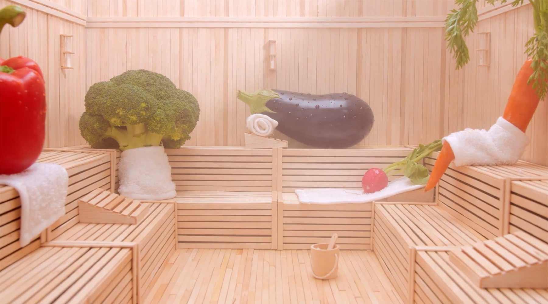 Gemüse-Sauna und Orangenlimo-Achterbahn