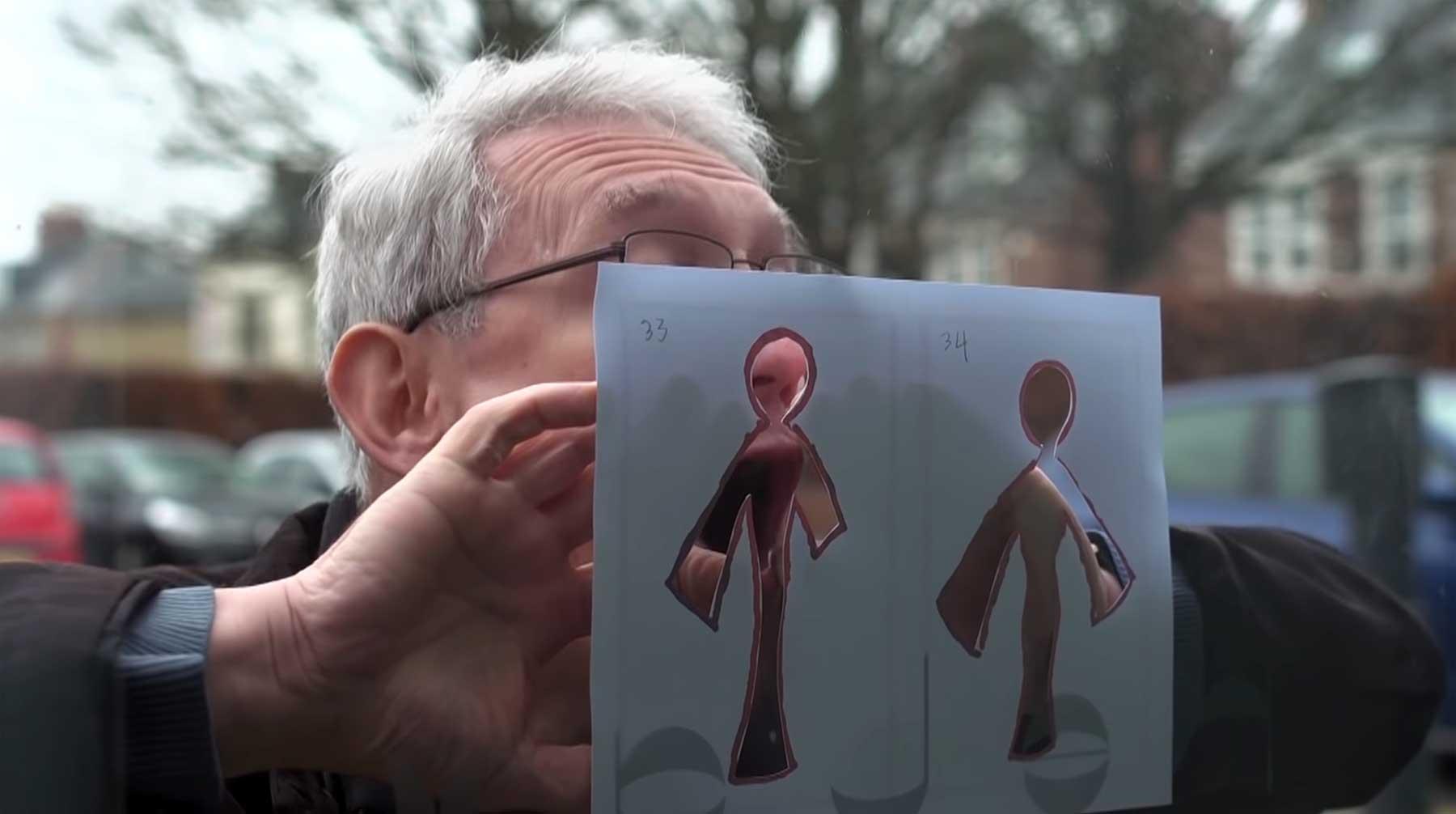 Stopmotion aus angehauchten Glasscheiben