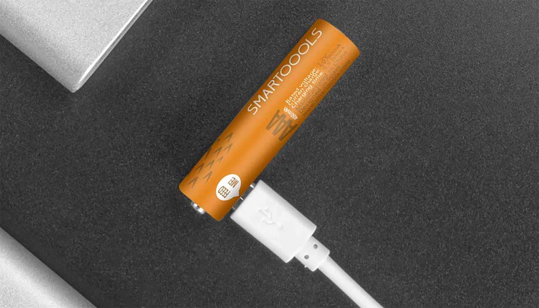Wiederaufladbare Akku-Batterien mit Mini-USB-Eingang
