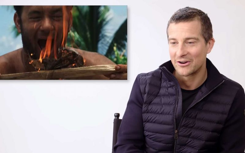 Experte Bear Grylls beurteilt Szenen aus Survival-Filmen