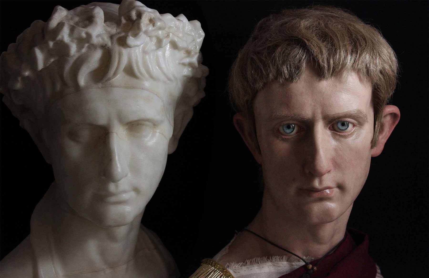 Hyperrealistische Büsten römischer Herrscher