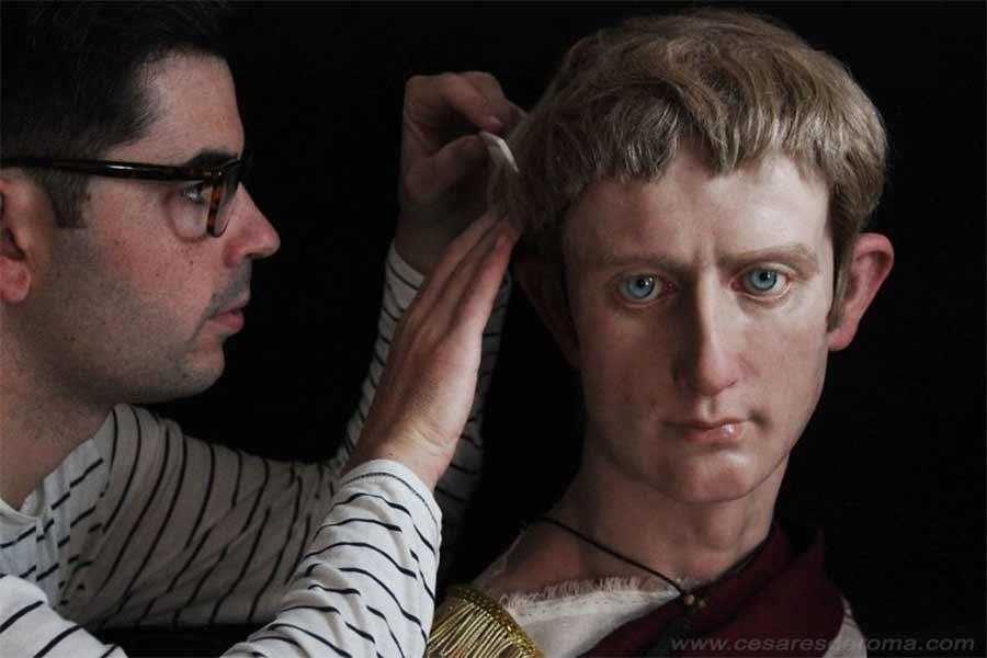 Hyperrealistische Büsten römischer Herrscher cesares-de-roma_04
