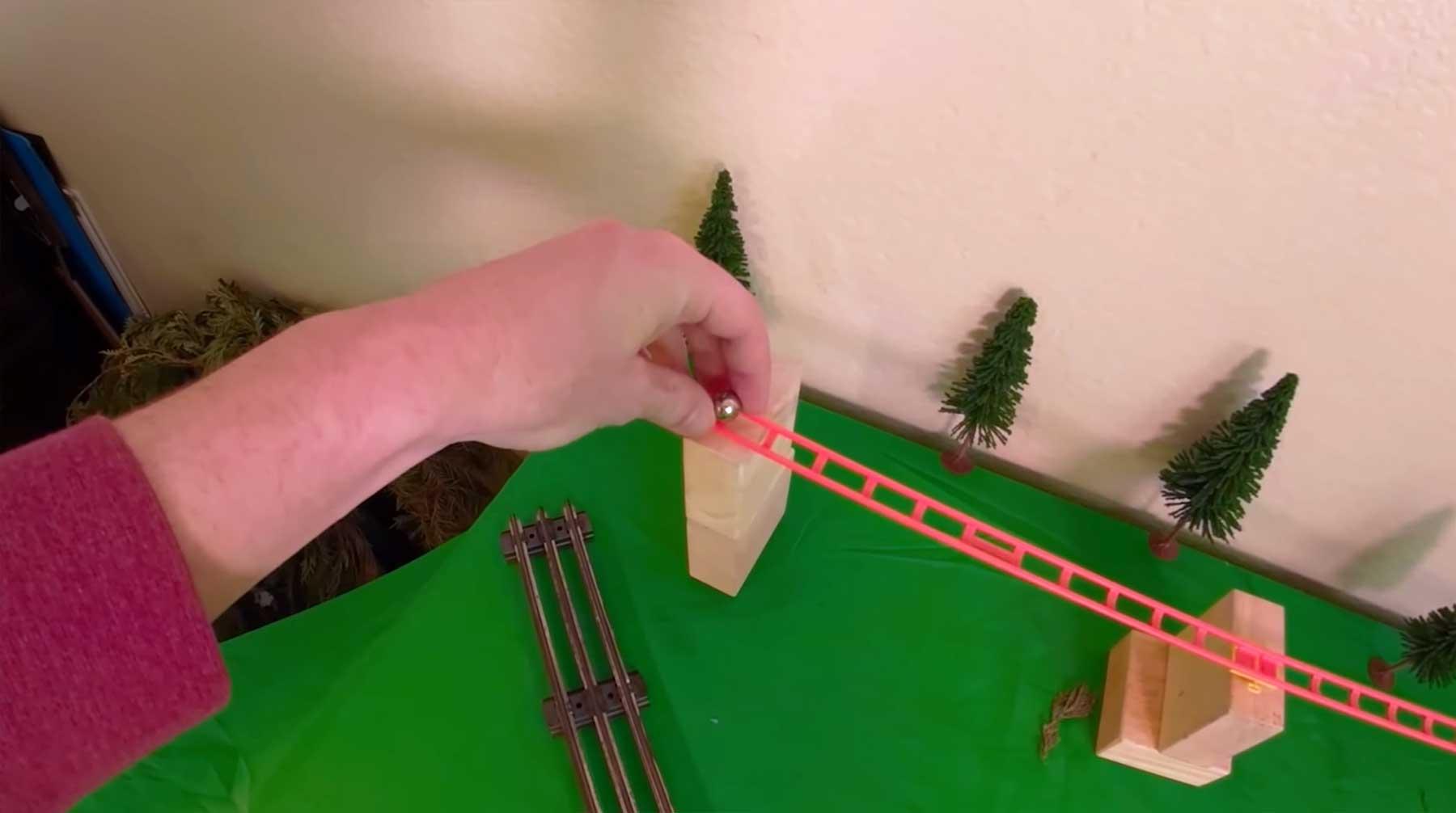 Bildstabilisierte Murmelbahn