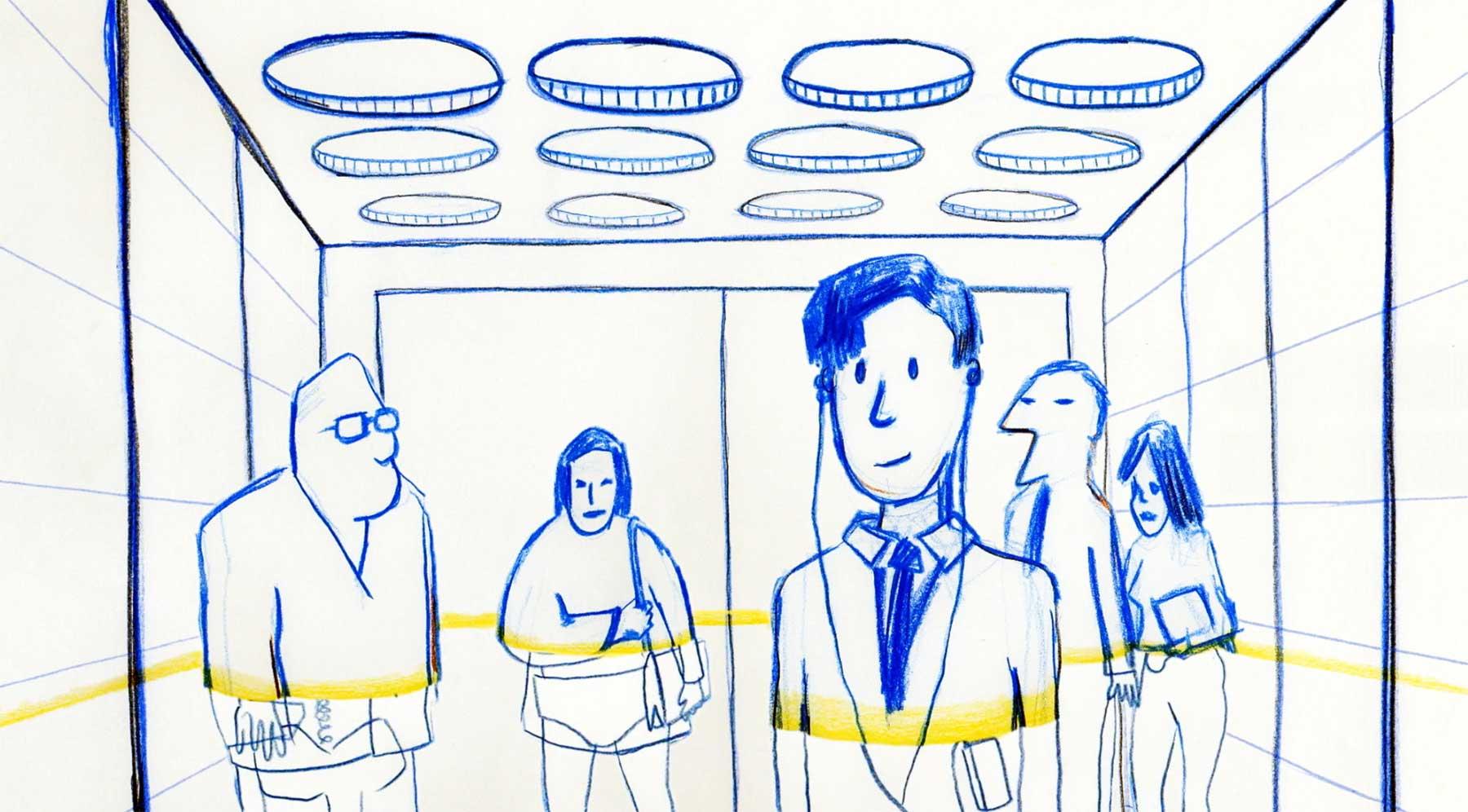 Der gläserne Mensch hat nichts zu verstecken kurzfilm-transparency