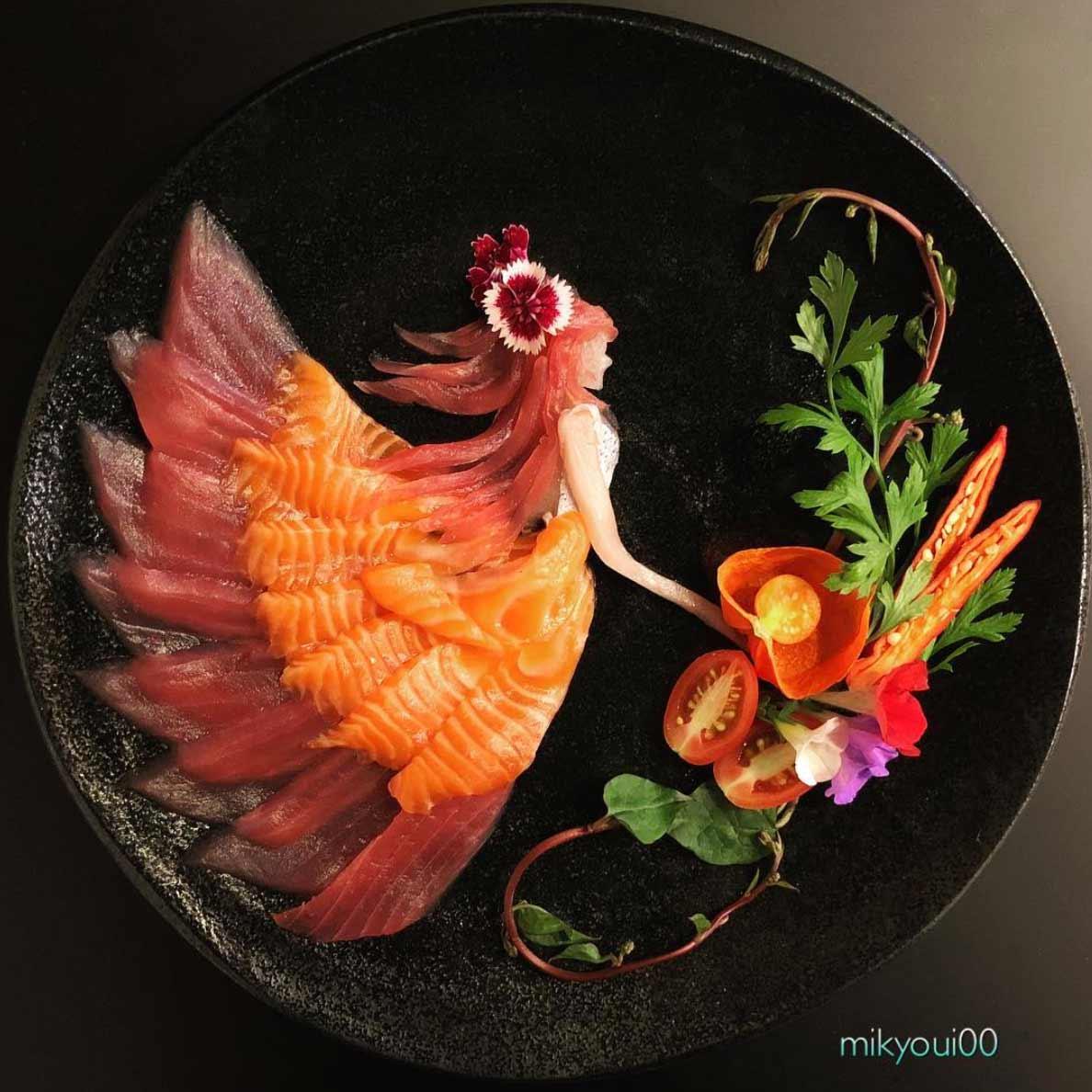 Wundervolle Sashimi-Kunstwerke von mikyou mikyou-sashimi-art-sushi-fischbilder_02