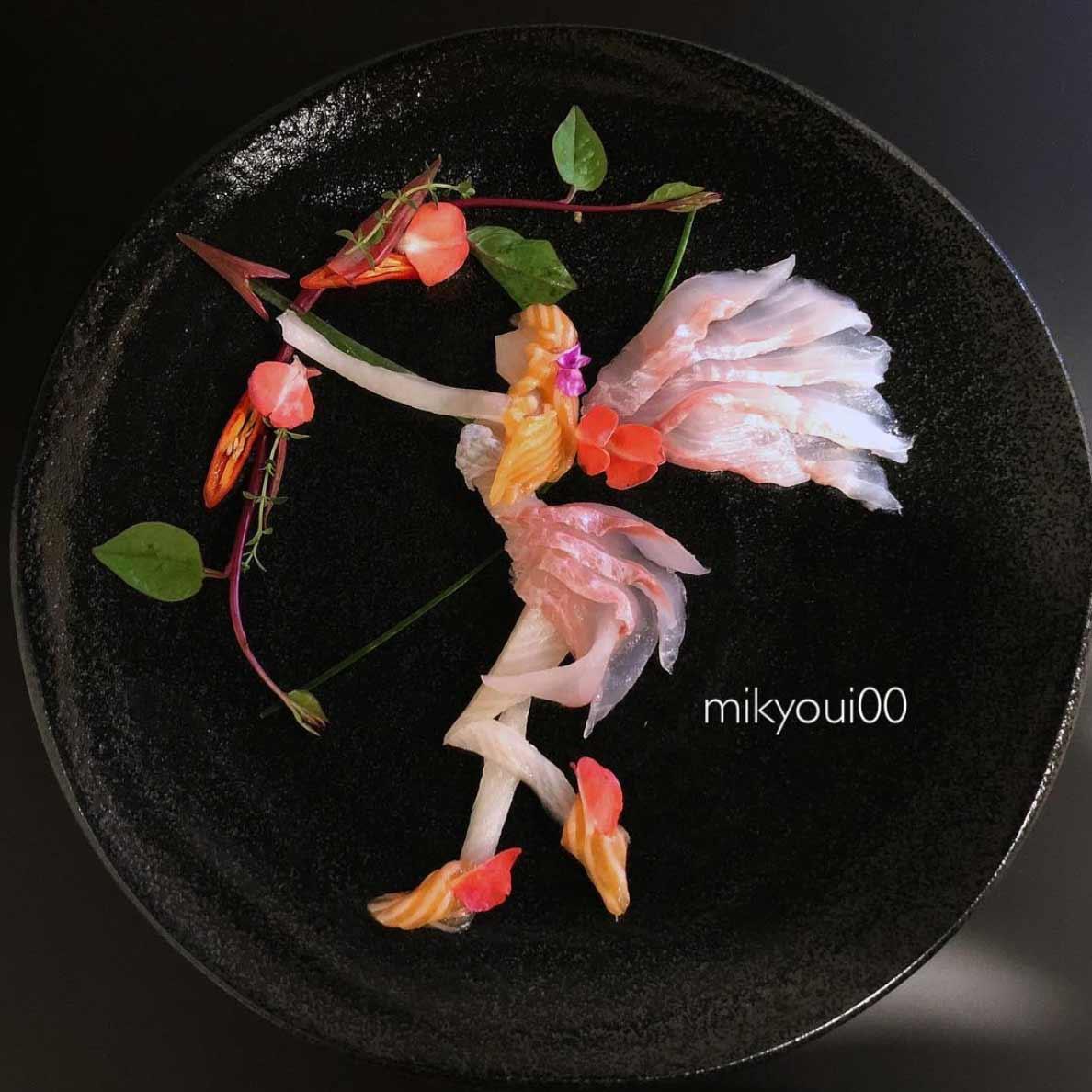 Wundervolle Sashimi-Kunstwerke von mikyou mikyou-sashimi-art-sushi-fischbilder_03