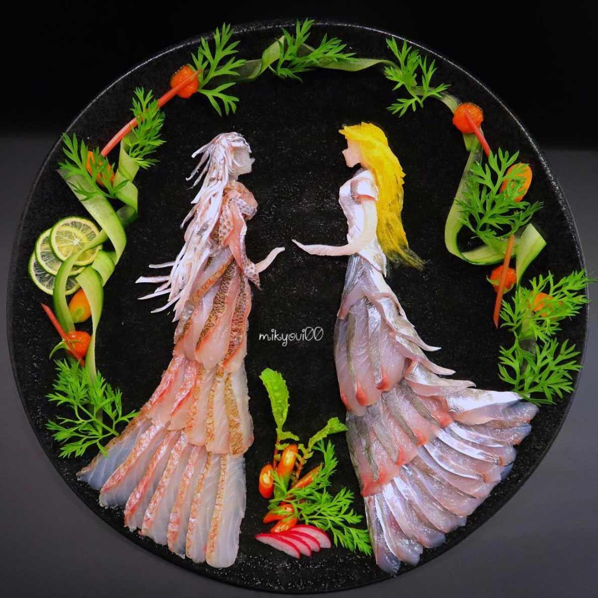 Wundervolle Sashimi-Kunstwerke von mikyou mikyou-sashimi-art-sushi-fischbilder_05