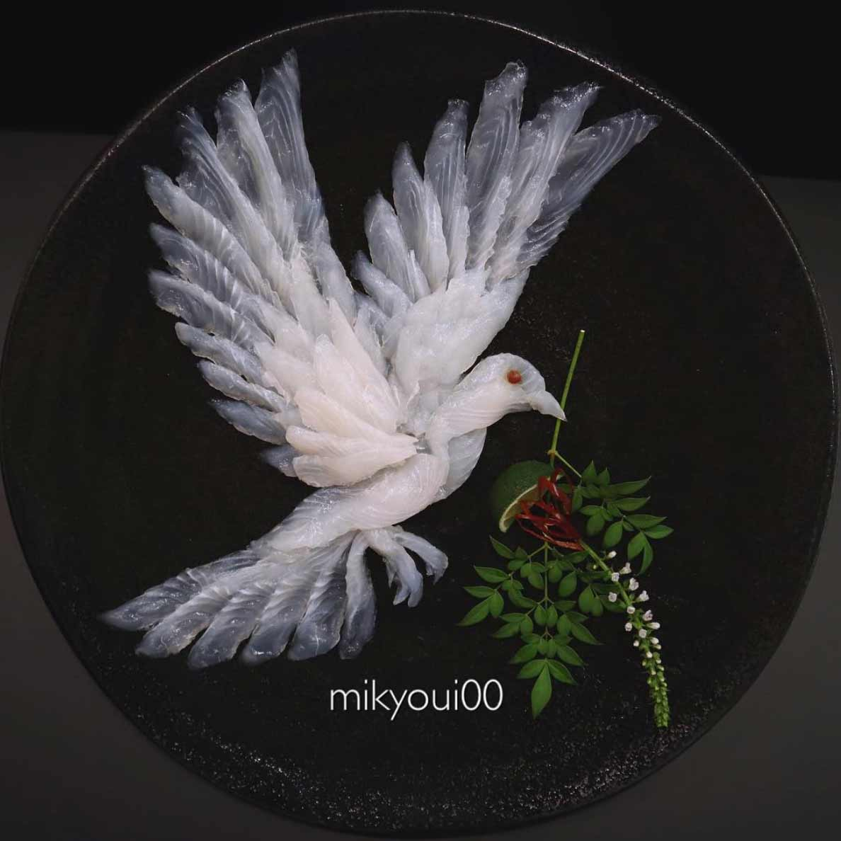 Wundervolle Sashimi-Kunstwerke von mikyou mikyou-sashimi-art-sushi-fischbilder_06